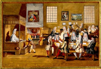 Interior of a London Coffeehouse (1668) copy